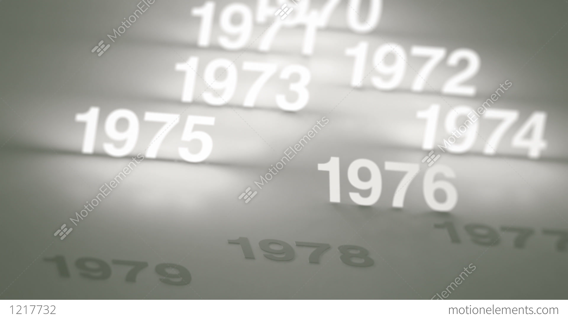 hight resolution of glowing numbers timeline 1970s 1980s and 1990s stock video footage