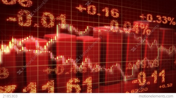 Stock Market Red Loopable Business Background