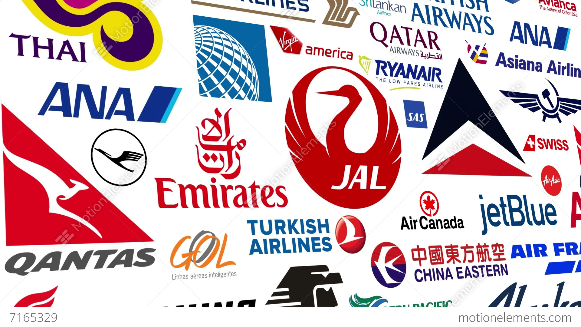 Airline Logo Loop Stock Animation