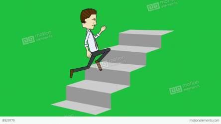 cartoon stairs running loop businessman matte business animation similar vfx particles