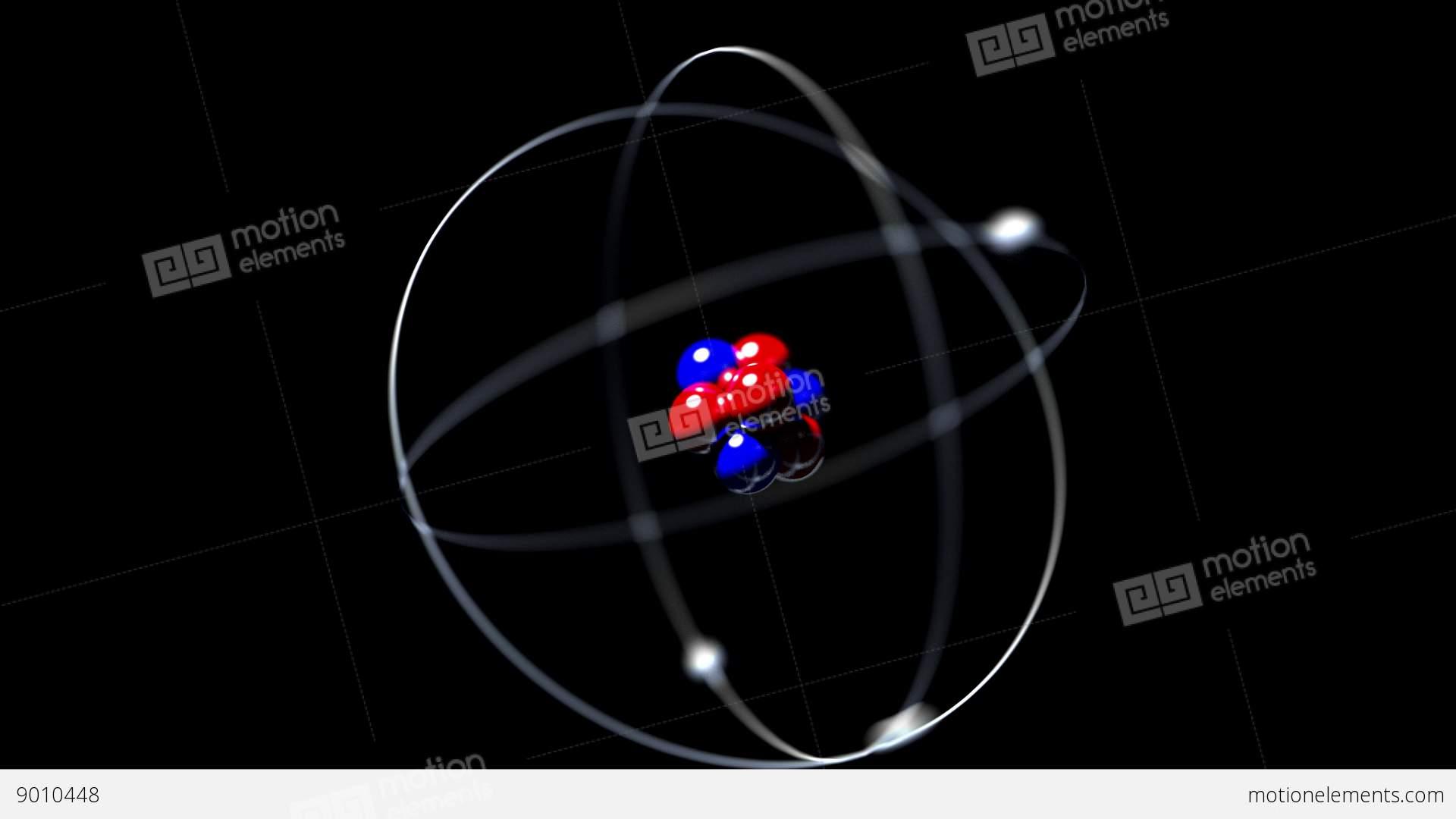 Atom Rotating Single Nucleus Proton Neutron Electron Loop