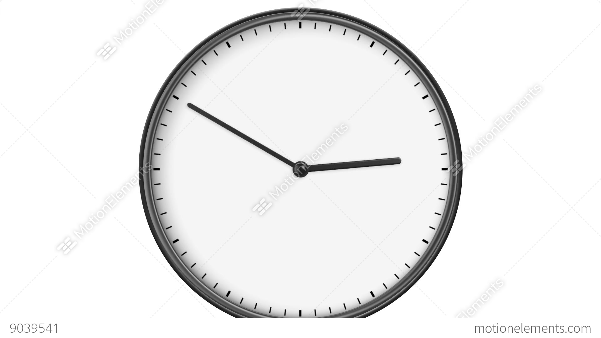 Clock Without Numbers Hd Loop Isolated On White