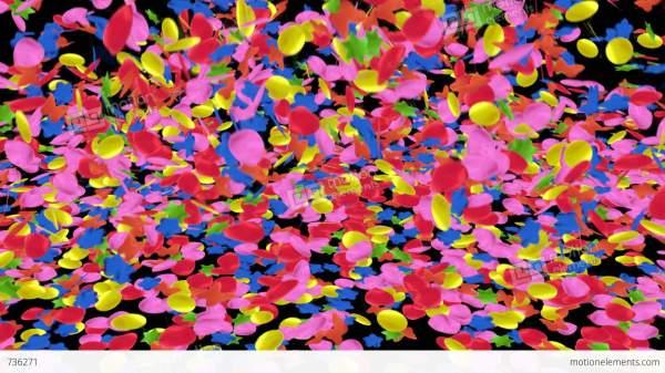confetti fall stock animation