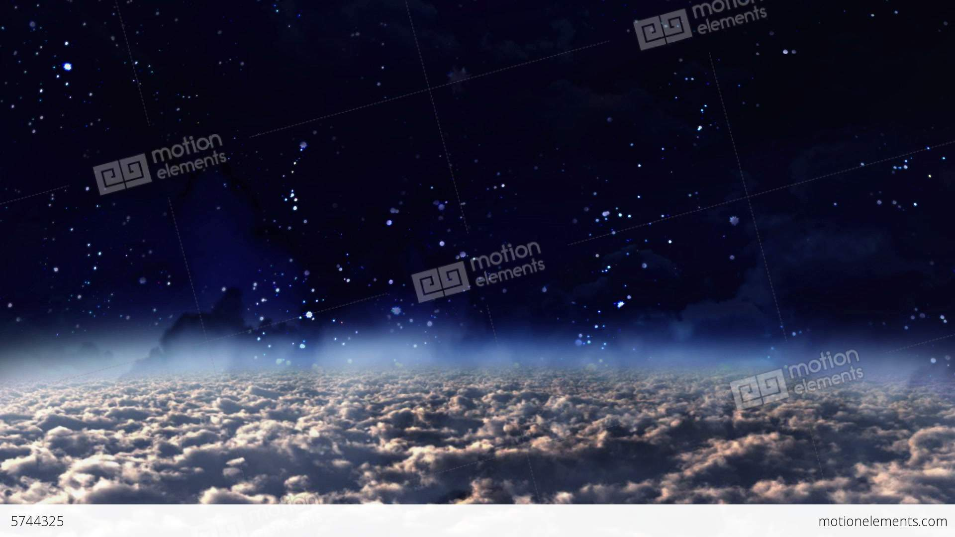 Sky Panning Day To Night Stock Animation