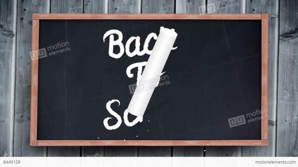 School Writing Chalkboard Stock Animation 8449128