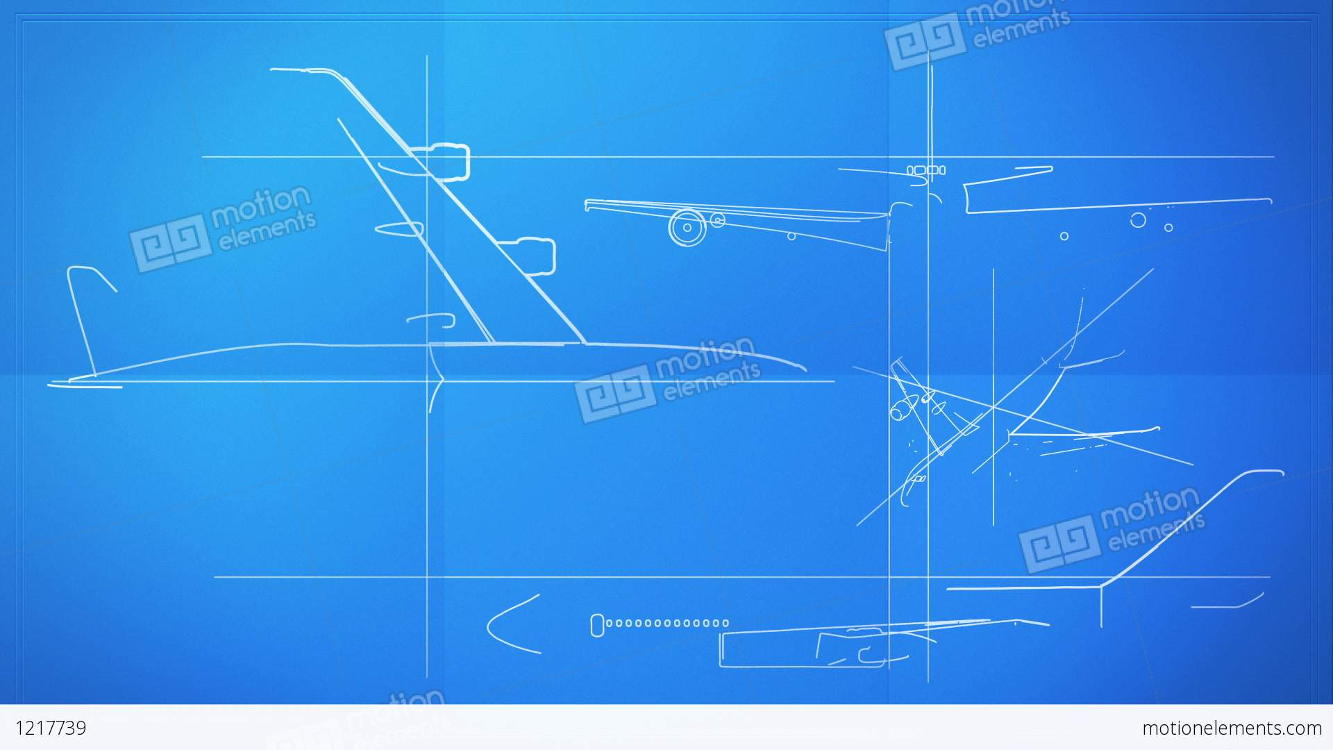 Aircraft Technical Drawing Blueprint Time Lapse Stock Animation  1217739
