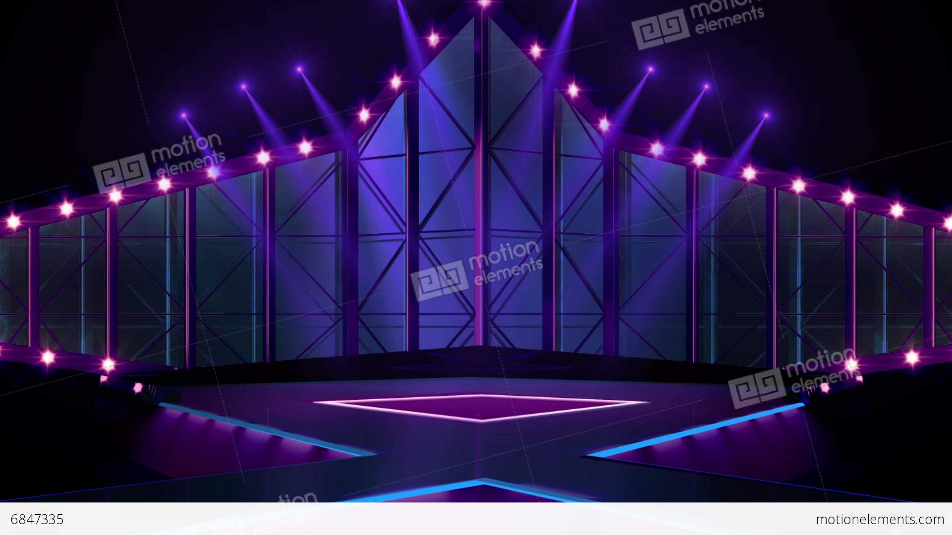 Entertainment TV Studio Set 19Virtual Background Loop Stock video footage  6847335