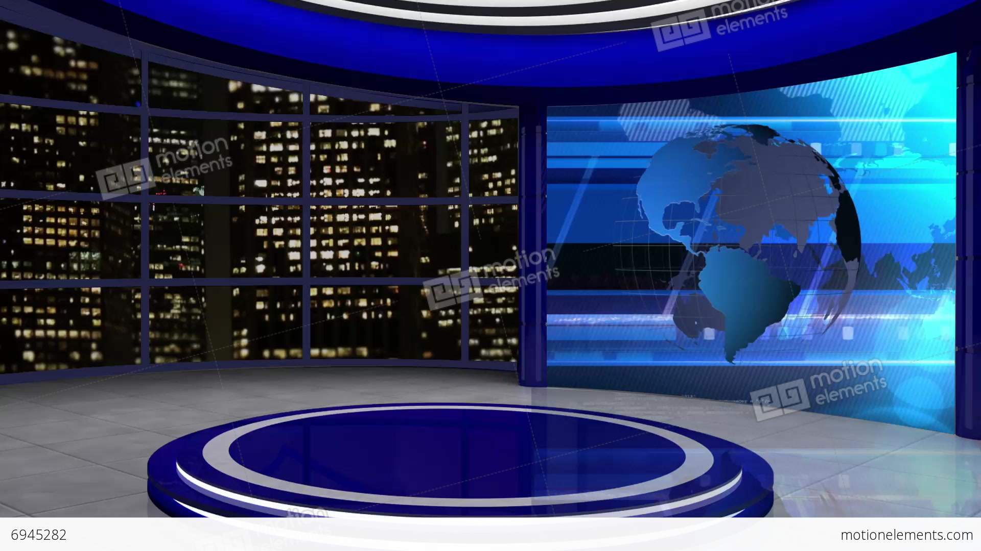 News TV Studio Set 61  Virtual Background Loop Stock video footage  6945282