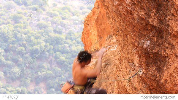 Rock Climbing Mountain Extreme Sports Rope Cliff Crag Motivation Stock Video Footage