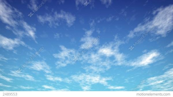 Loopable Sky Blue Hd Stock Animation 2489553
