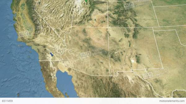Satellite Map Of Arizona.Arizona State Usa Extruded Satellite Map Stock Year Of Clean Water