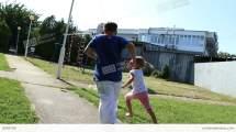 Girl And Boy Running Barefoot Grass Stock Video