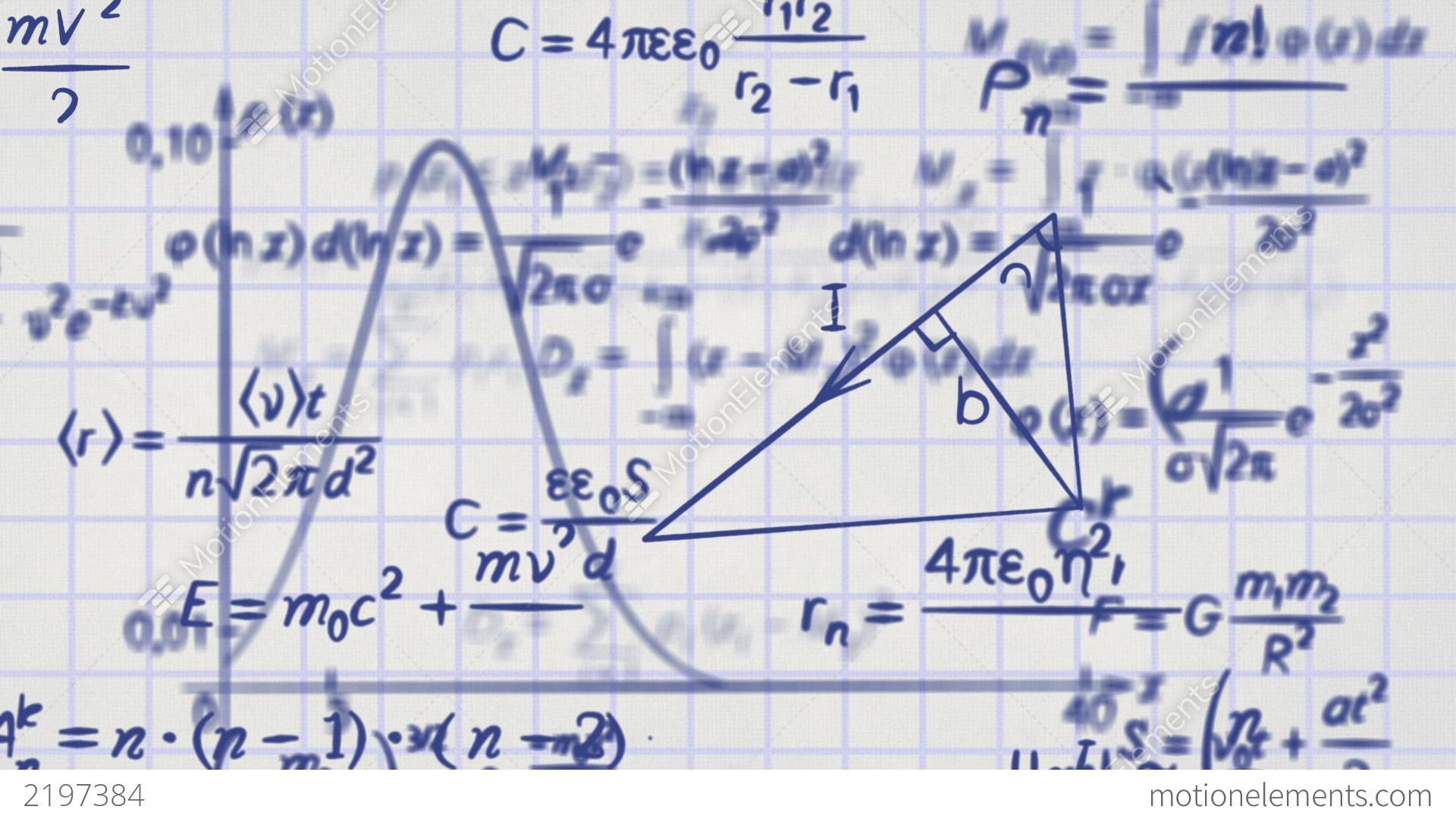 Mathematics Background Animation
