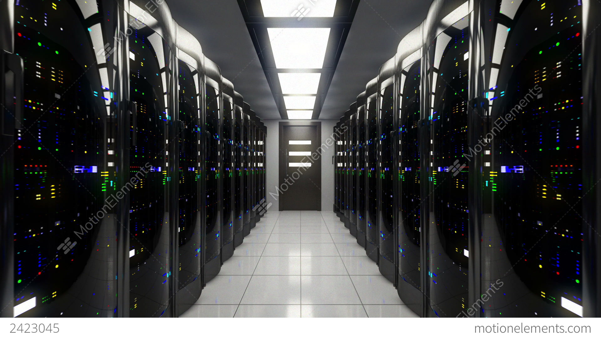 Hacker 3d Wallpaper Blackout In Server Room Stock Animation 2423045
