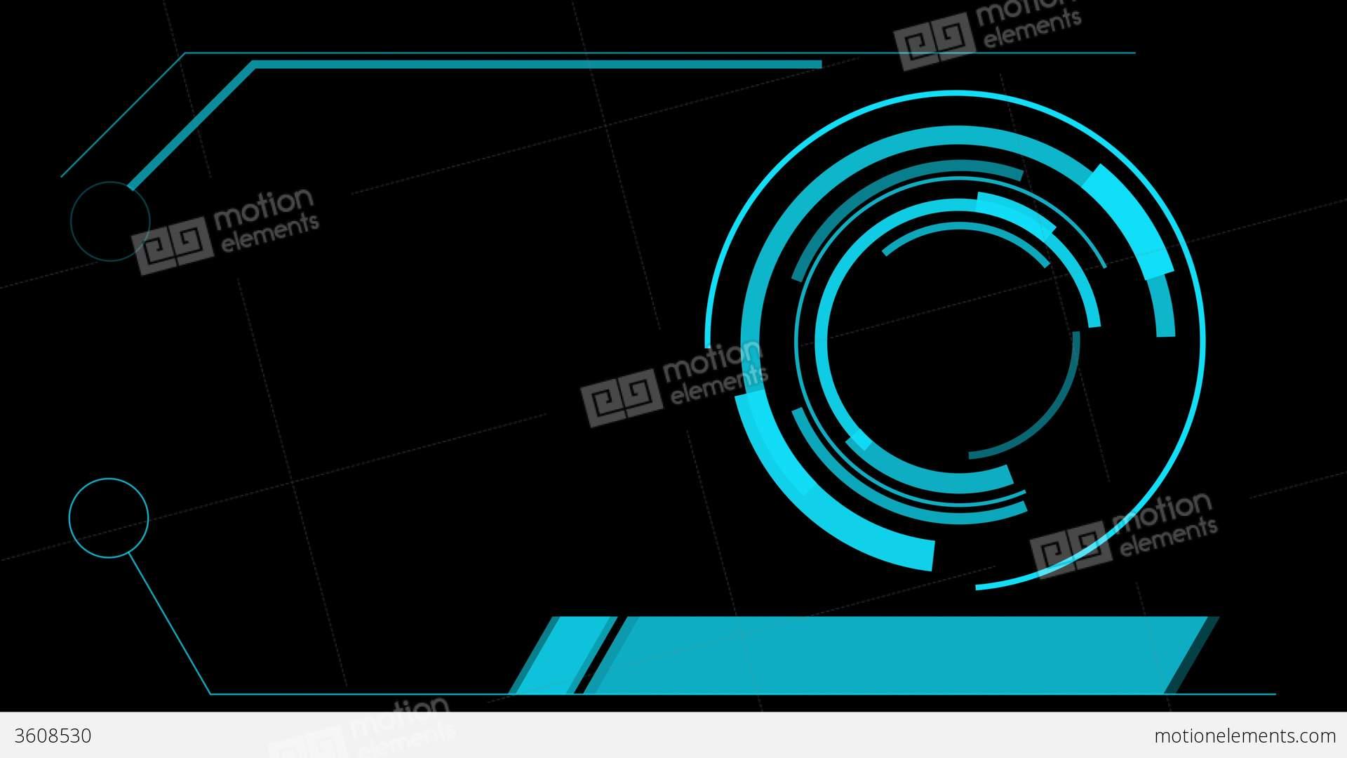 Hologram Wallpaper Hd Screen Hologram Hud Interface Graphics Stock Animation