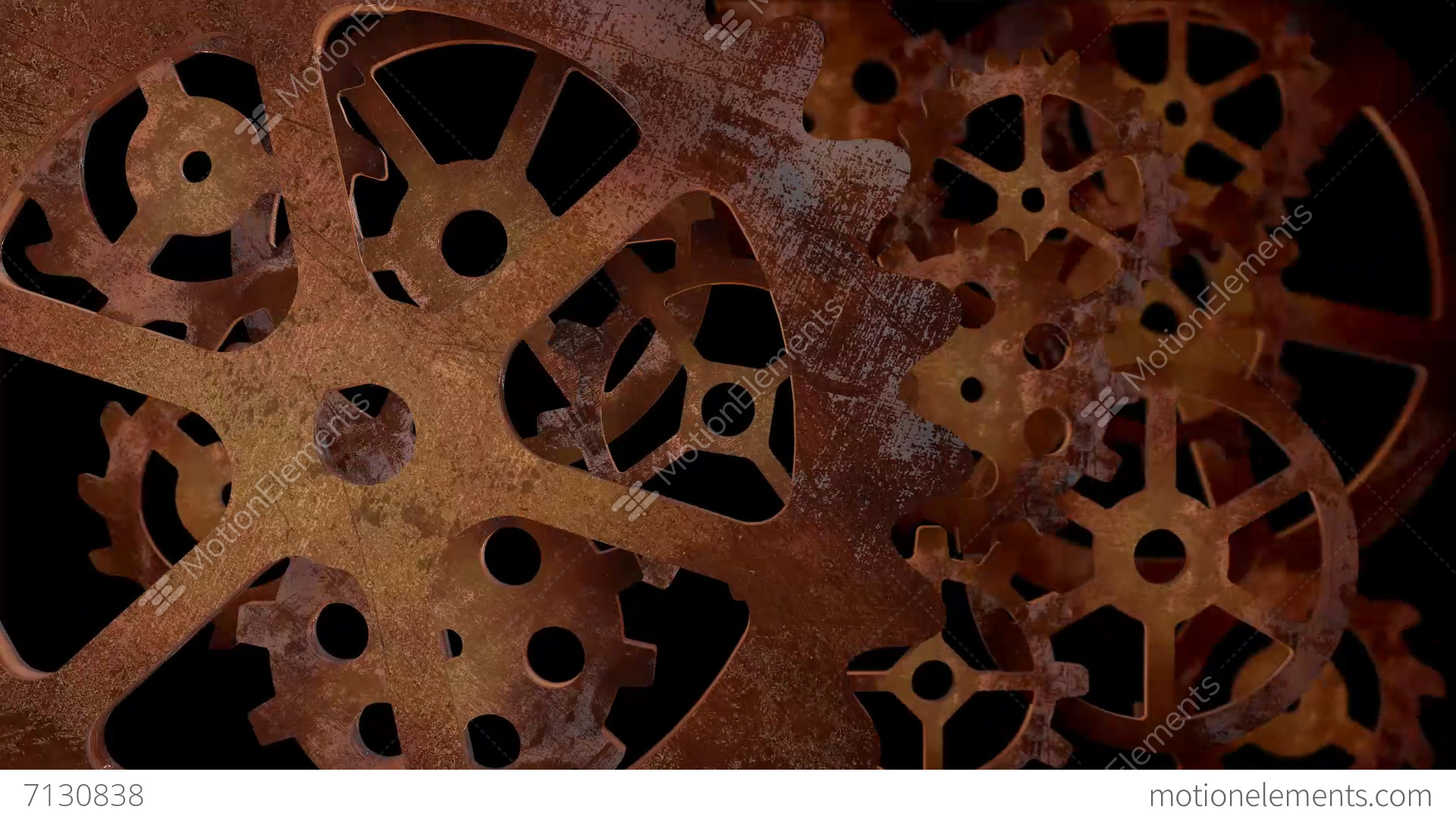 Steampunk Gears And Cogs Stock Animation 7130838
