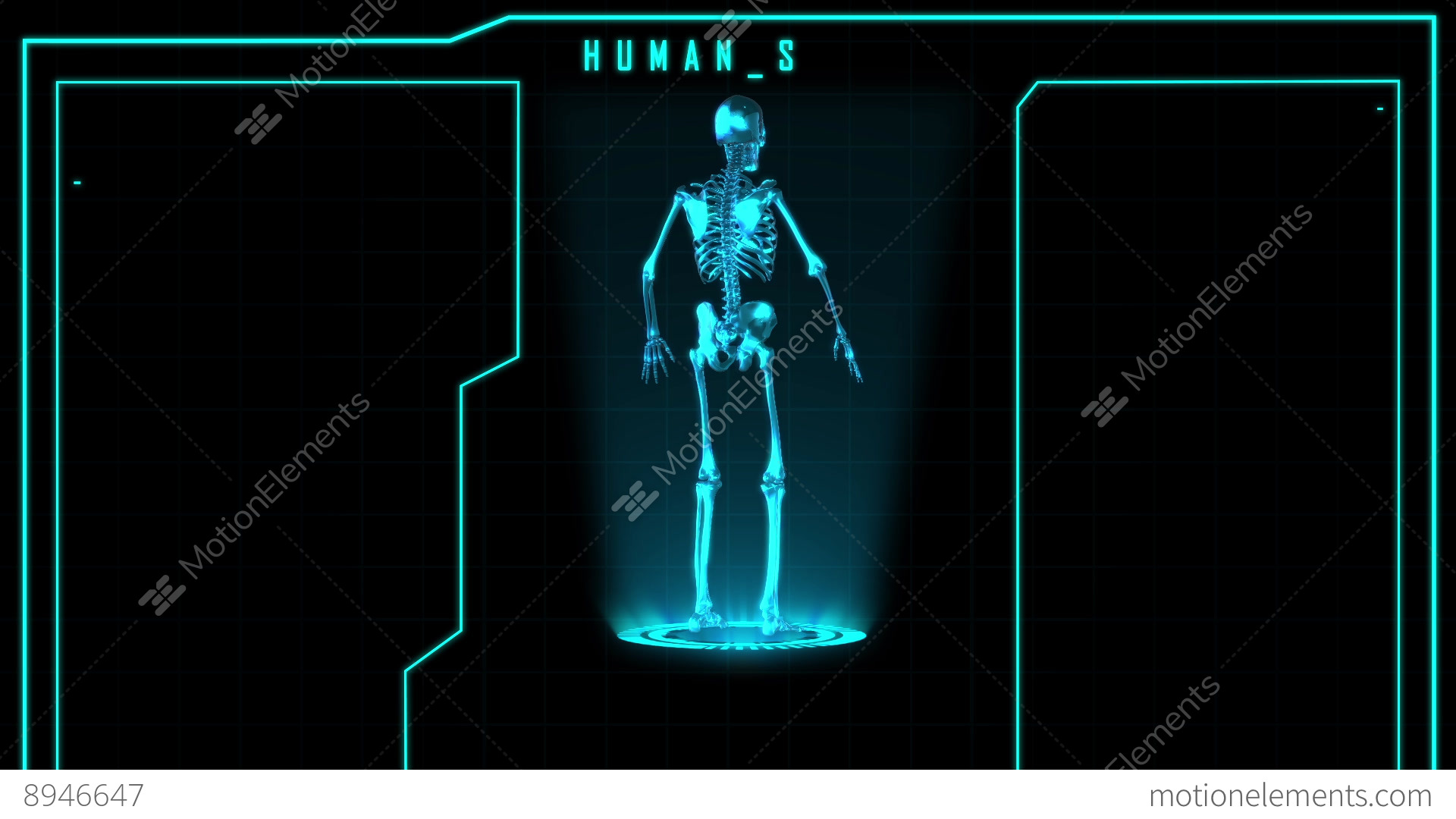 Science Fiction Medical Design Element Human Skeleton Or