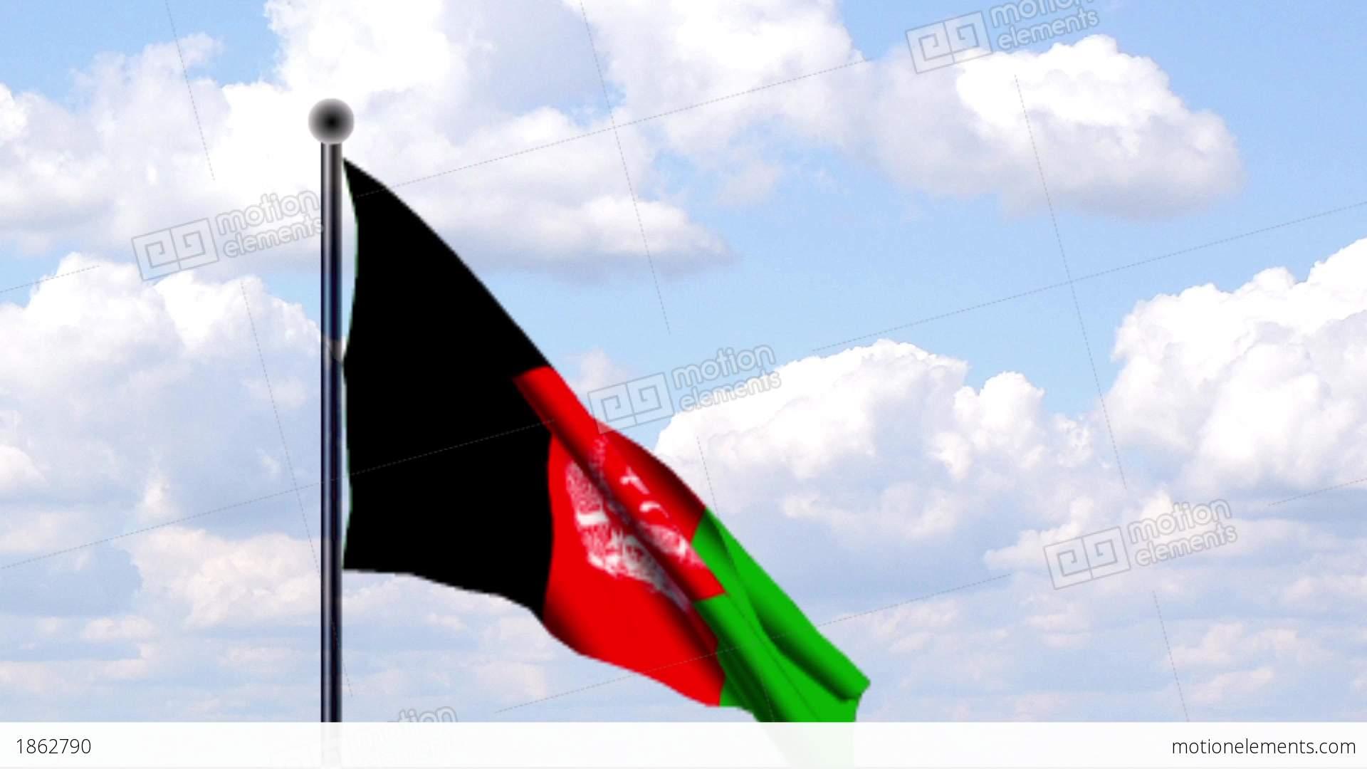 Afghanistan Flag Hd Wallpaper Animated Flag Of Afghanistan Stock Animation 1862790