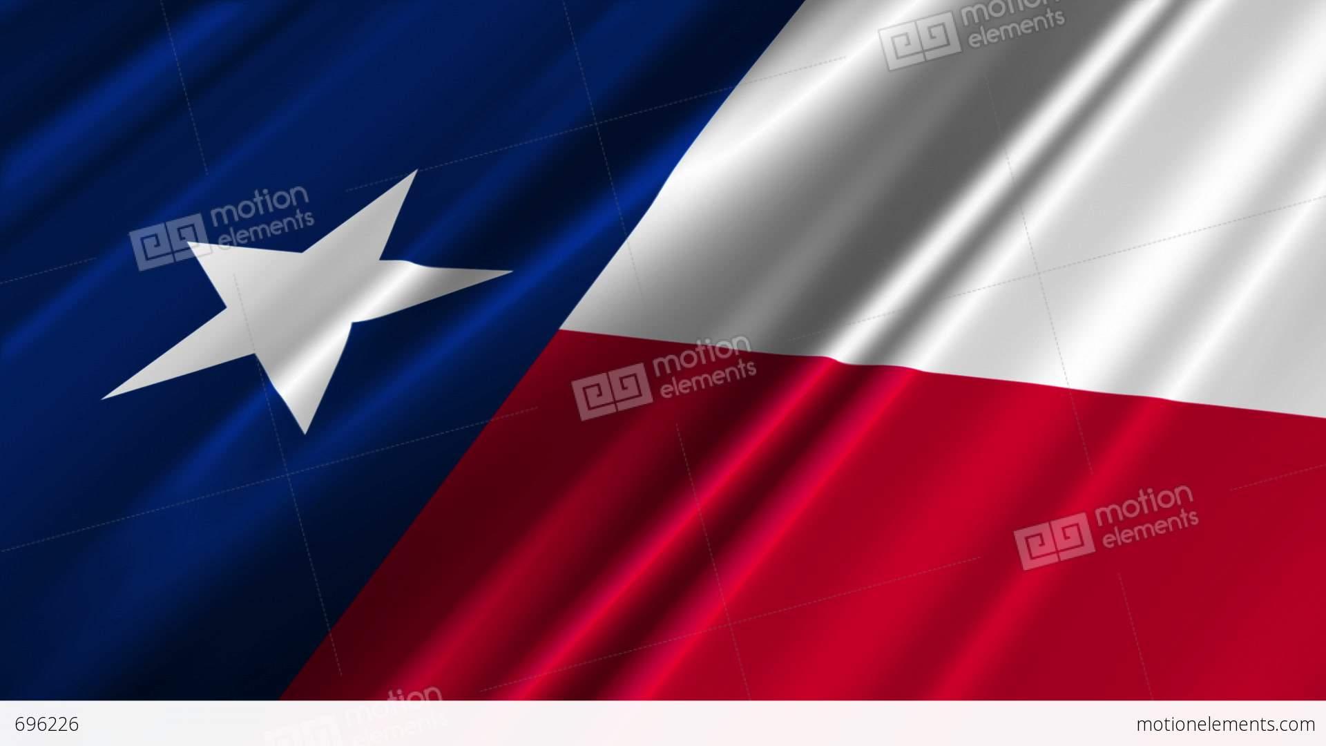 Texas Flag Loop 02 Stock Animation