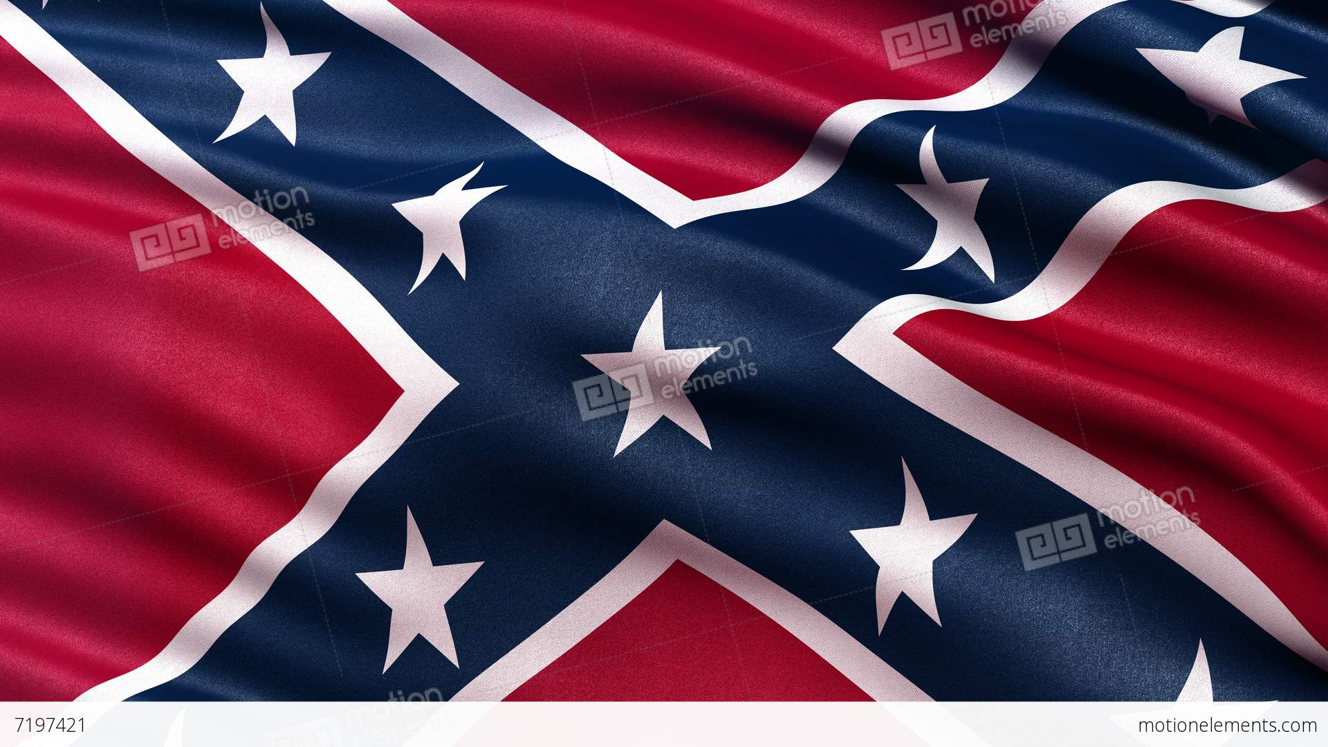 Confederate Flag Seamless Loop UltraHD Stock Animation