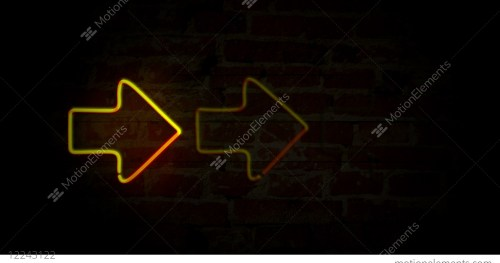 small resolution of arrows yellow neon light stock video footage