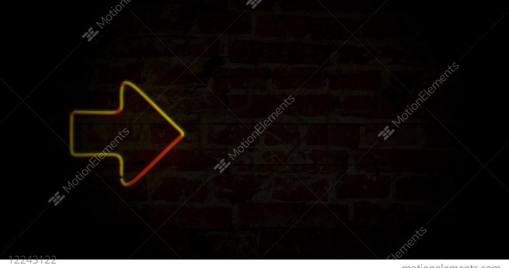 medium resolution of arrows yellow neon light stock video footage