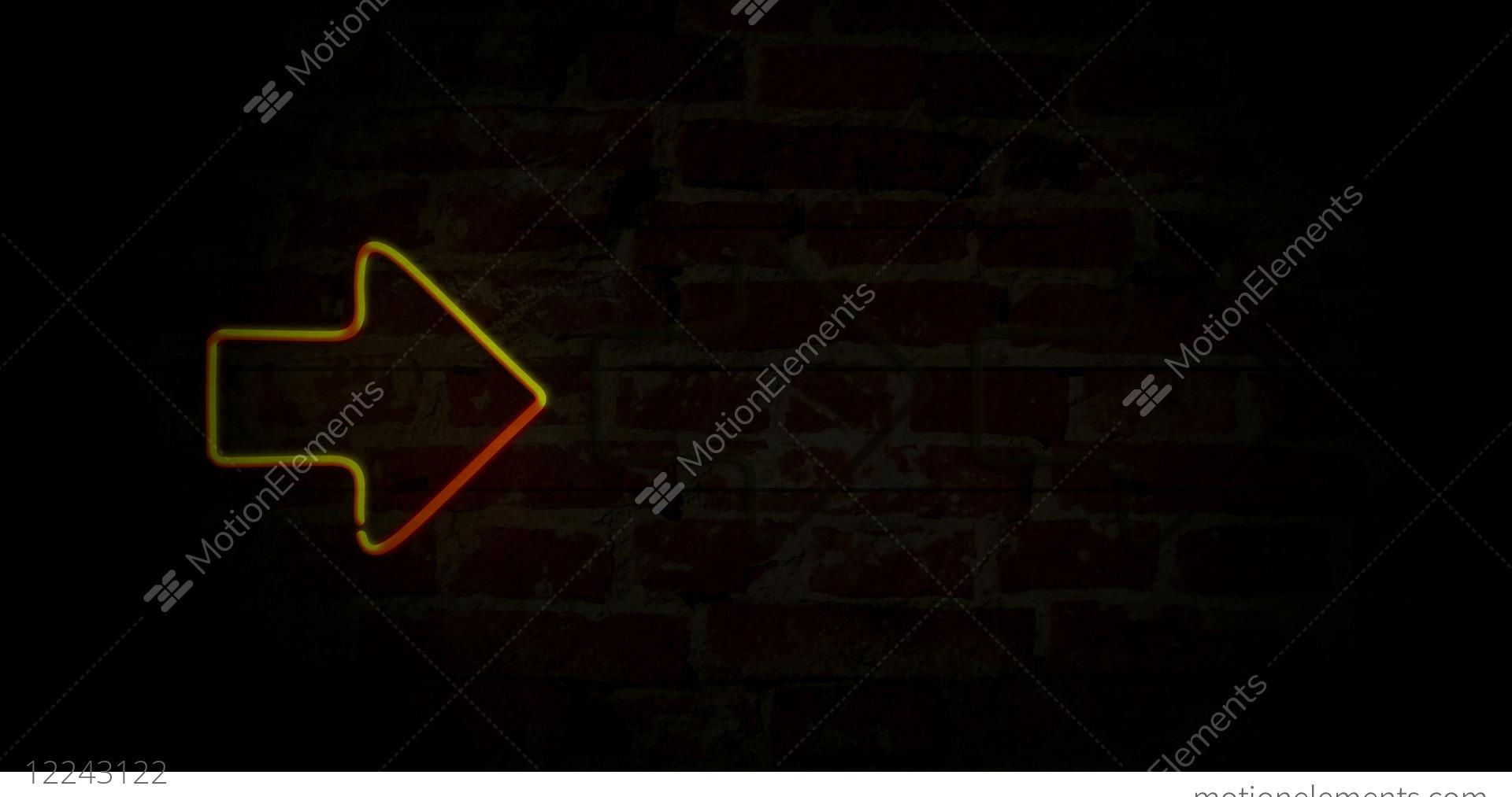 hight resolution of arrows yellow neon light stock video footage