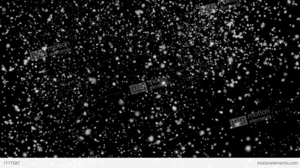 Black Background with Snow