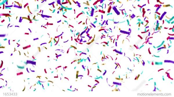 loopable clip of colorful confetti