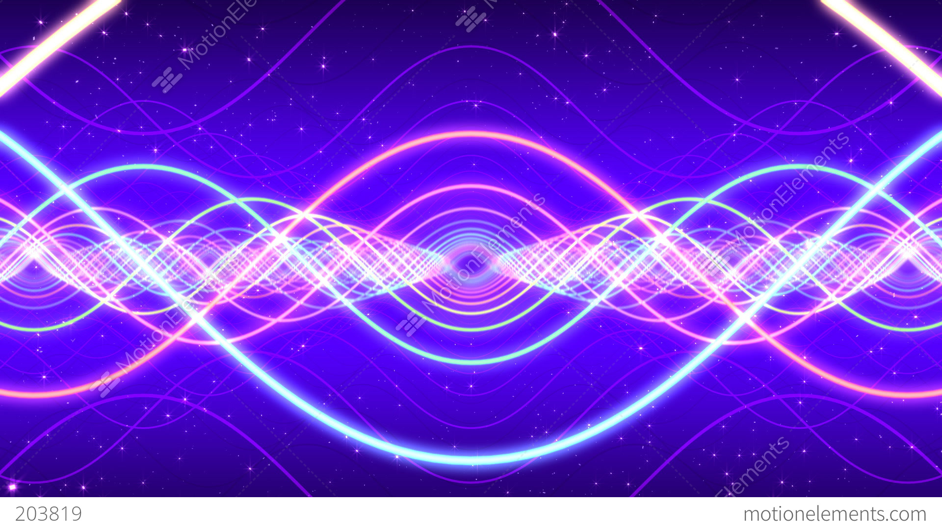 Light Waves Stock Animation