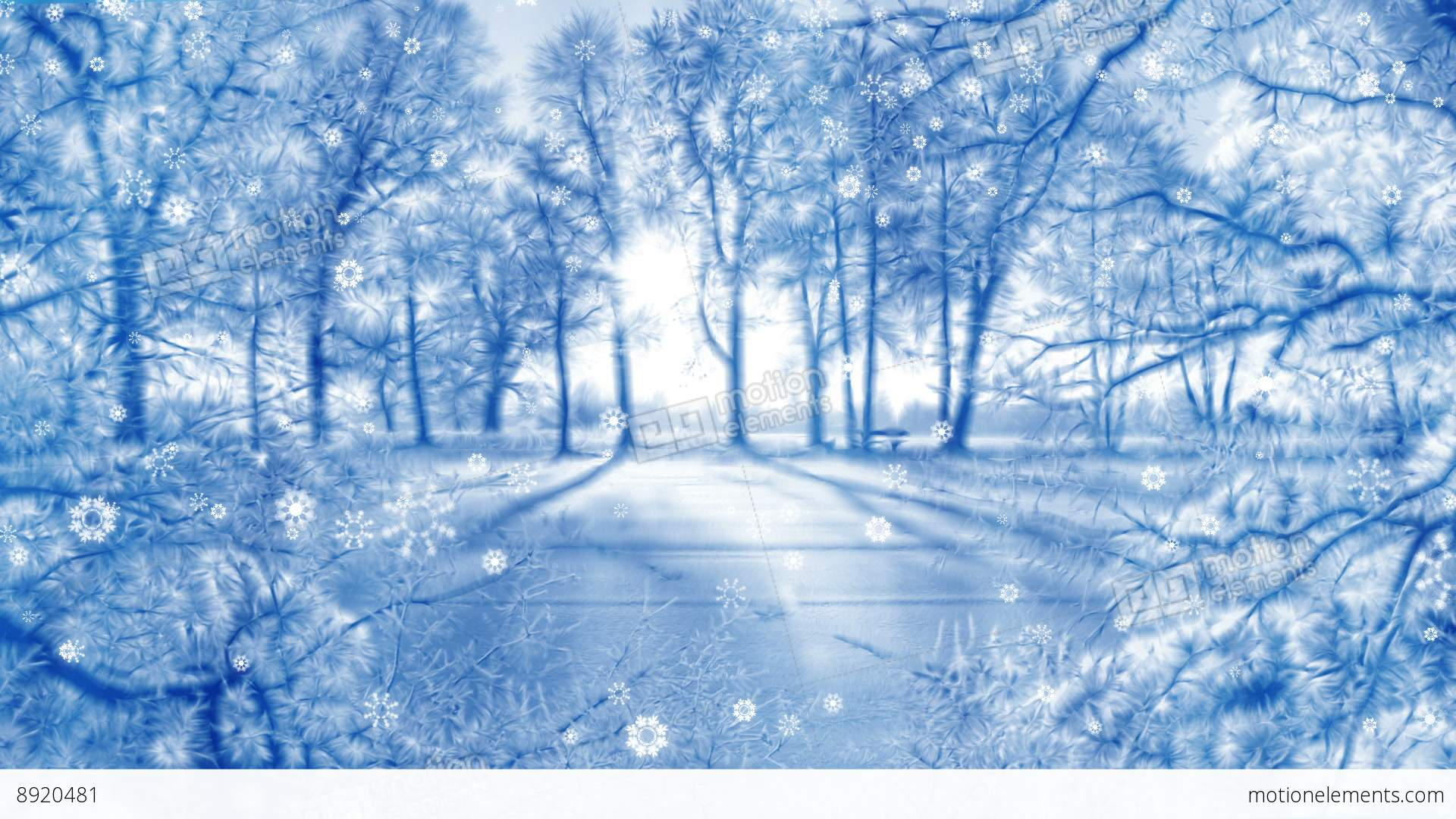 Winter Background Animation Loop Stock Animation  8920481