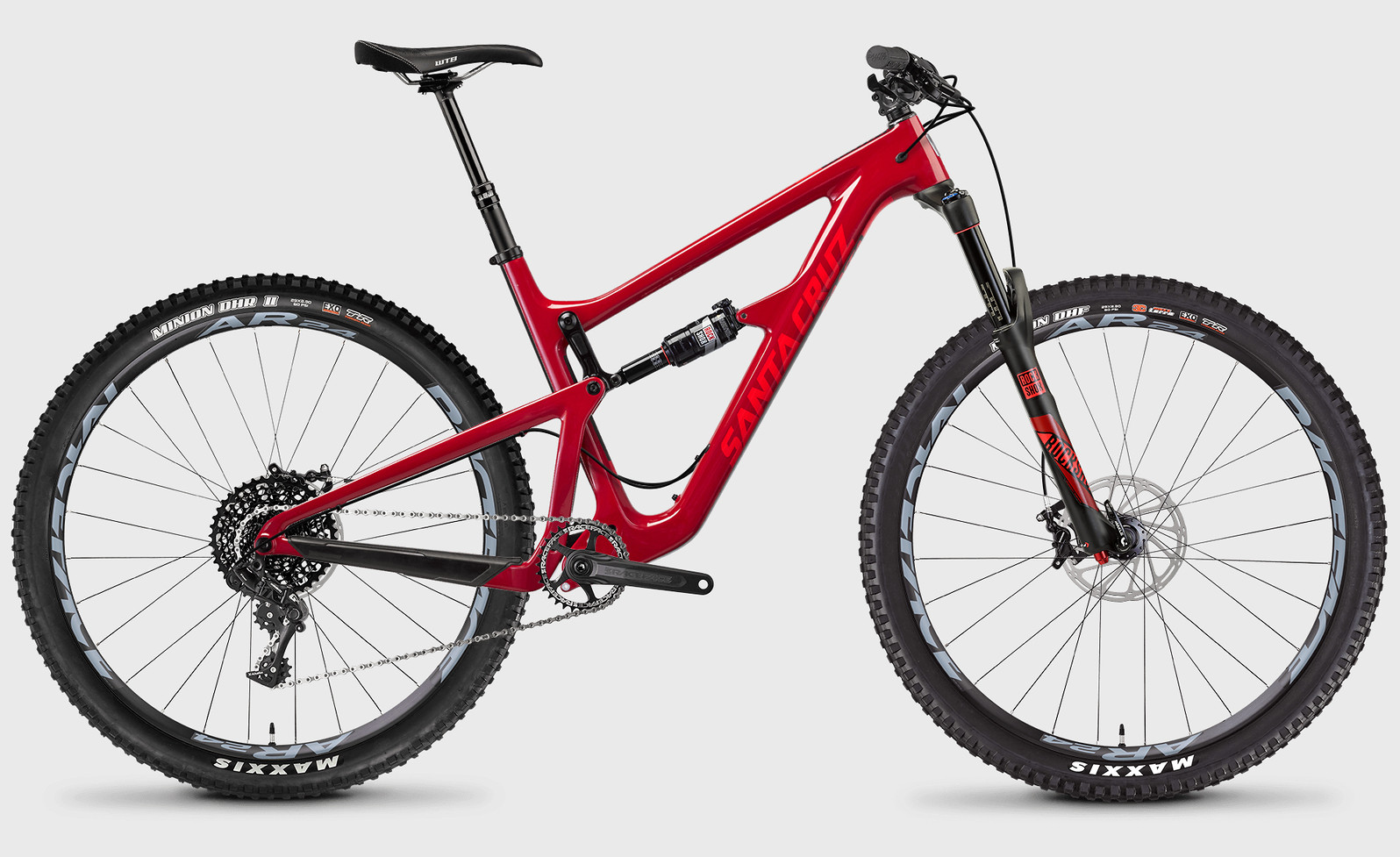 medium resolution of 2017 santa cruz hightower c s bike sriracha red
