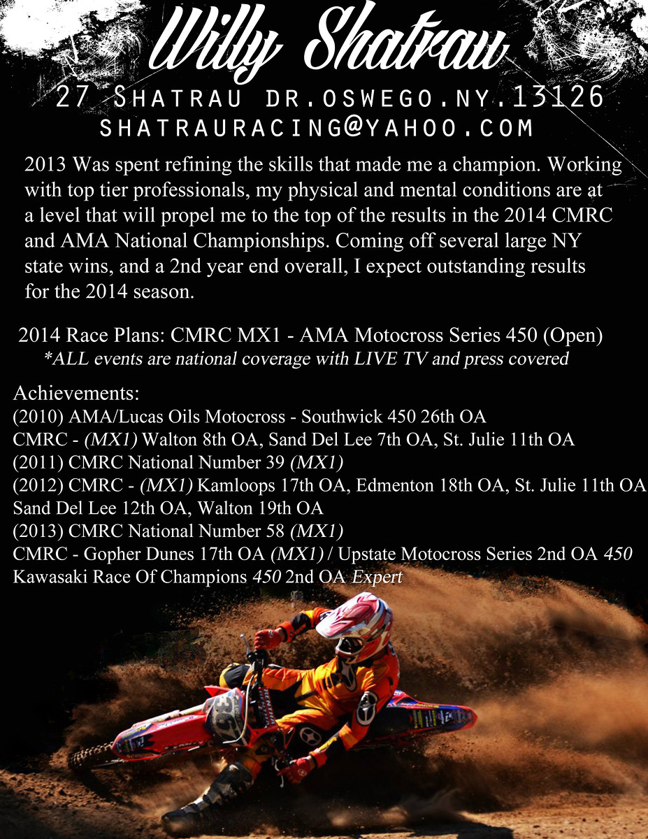 Sponsor Resume Help? Non Moto Motocross Forums