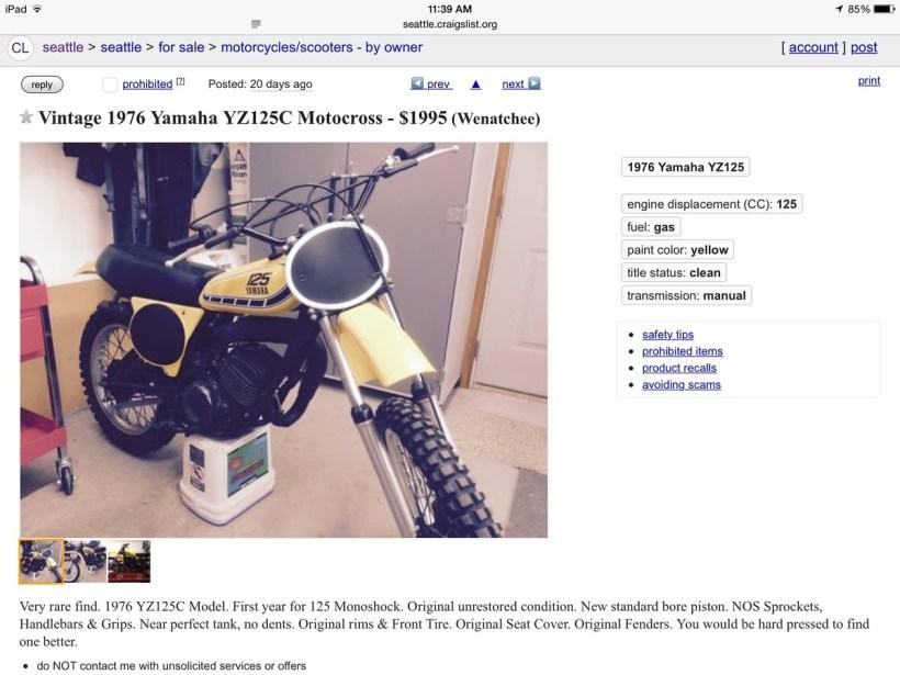 Motorcycles Craigslist Seattle | 1stmotorxstyle org