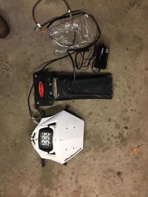 small resolution of headlight tail light kit yamaha dirt bike