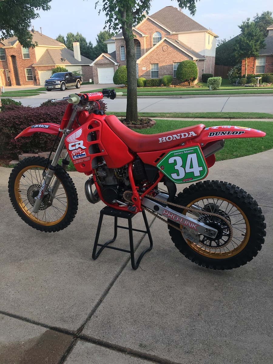 hight resolution of 1988 cr250 race day finally