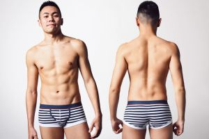 kubas,navy,stripe,elastic,cotton,waistband,boxers,underwear
