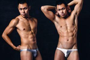 柔滑,金屬,貼身,低腰,三角褲,男內褲,silky,metallic,skinny,low waist,briefs,underwear