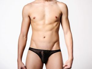 kubas,breathable,translucent,mesh,low waist,briefs,underwear