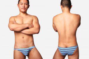 blue,stripe,silky,briefs,underwear
