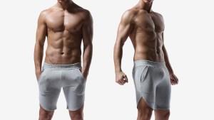 gym leader,膝上,修身,棉,短褲,slim,cotton,short pants