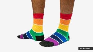 彩虹,寬,條紋,半筒,運動,襪,rainbow,big,strips,socks,sports