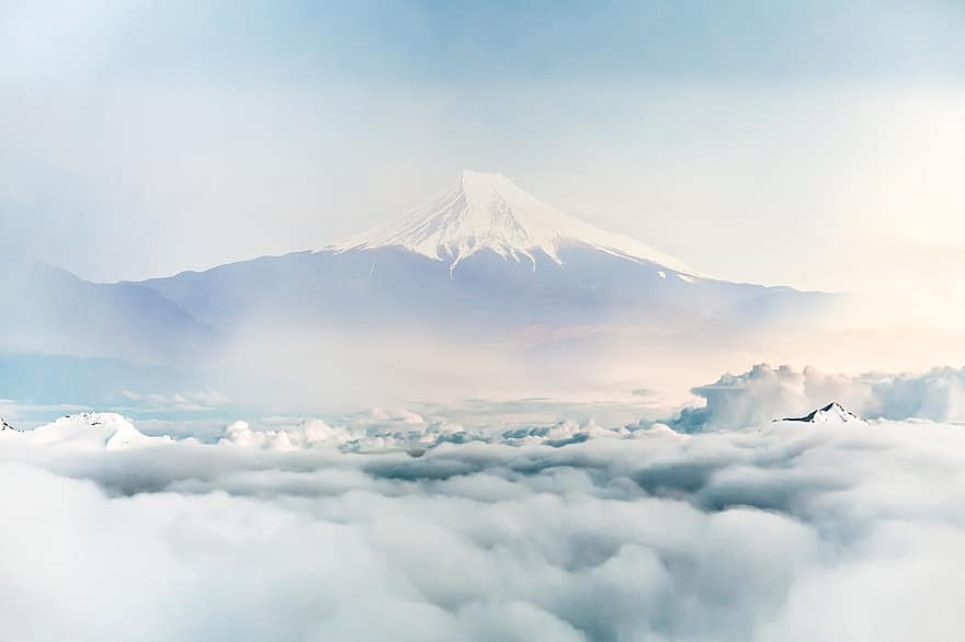 Climbing fuji was never going to be an easy task, not just because of the physical demands of the landscape, but because navigating japan's tallest mountain with a tight schedule, language barriers, and while lugging heavy camera equipment was always going to be a challenge. Japan Fuji Mountain Clouds Landscape Sky Asia Mount Japanese Dawn Mountains Pikist