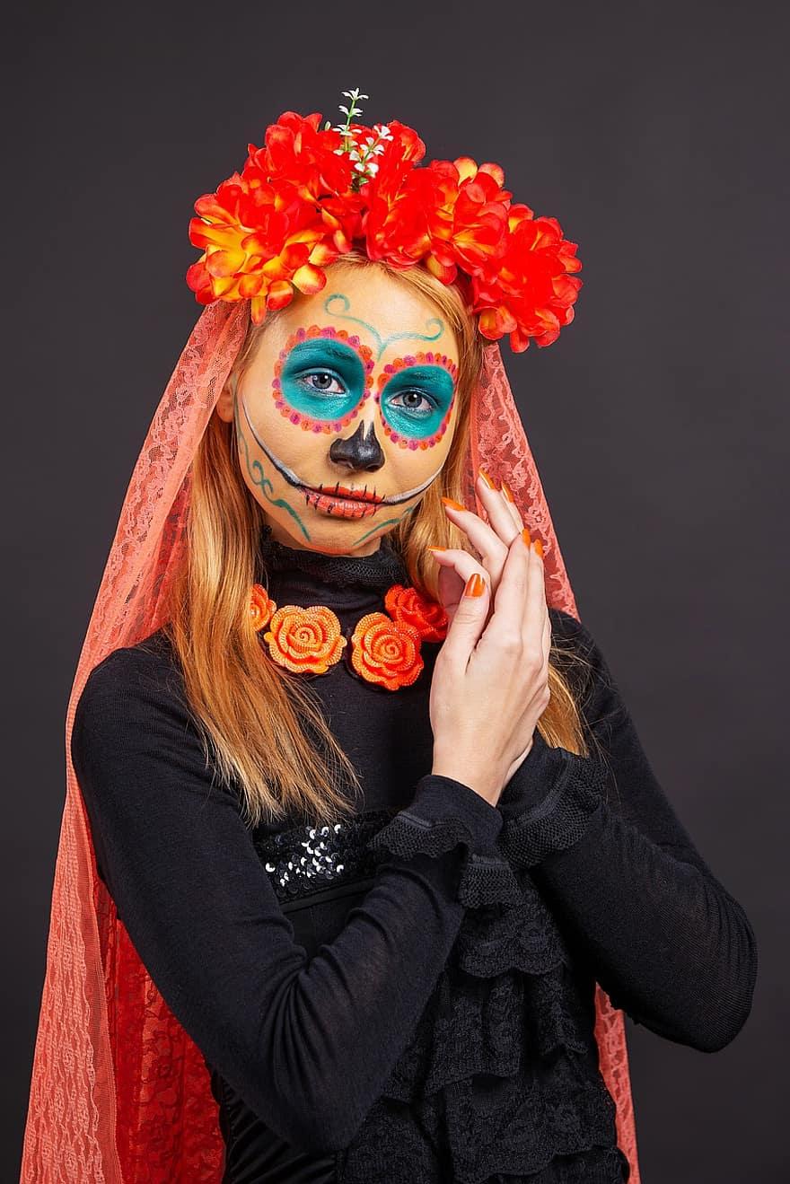 Jour Des Morts (mexique) : morts, (mexique), Halloween, Mexicain,, Morts,, Carnaval,, Festival,, Halloween,, Mexique,, Mort,, Morte,, Fête,, Gothique, Pikist