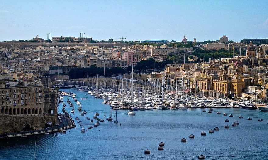 Malta Travel Tourism Europe Island Mediterranean Maltese Vacation European Town Water Pikist