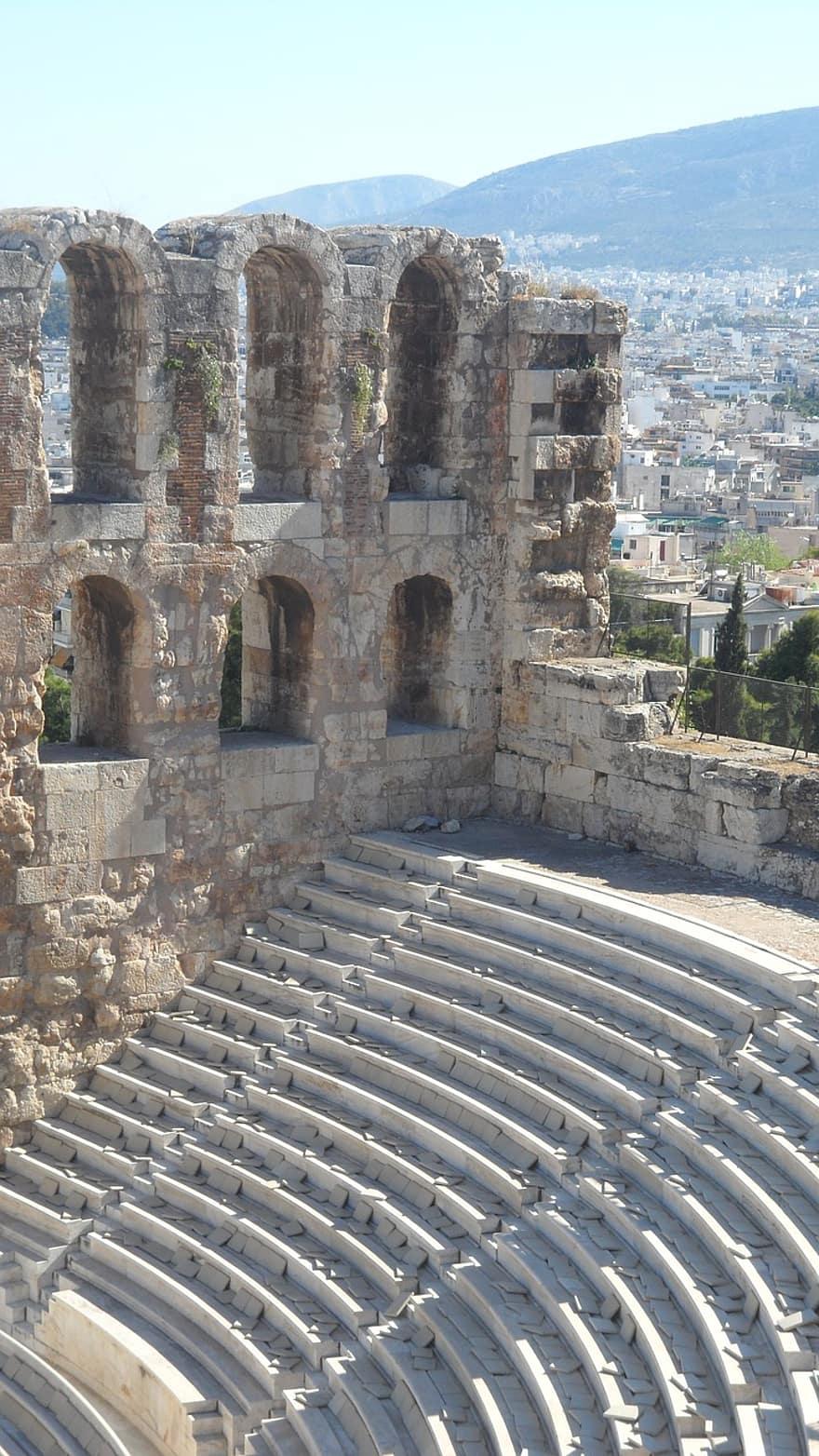 Teater Yunani Klasik : teater, yunani, klasik, Yunani,, Parthenon,, Athena,, Sisa,, Titik, Acuan,, Pikist