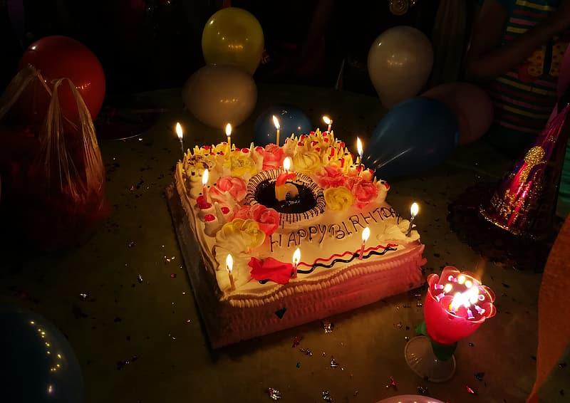Happy Birthday Cake With Candles Pikrepo