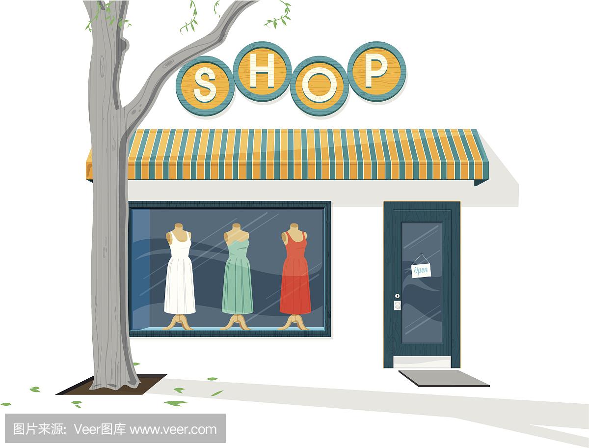 服裝店圖片卡通_賣衣服圖片卡通圖片_微信公眾號文章