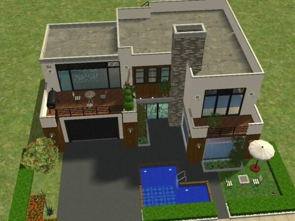 Plan Maison Sims 3 Gamboahinestrosa