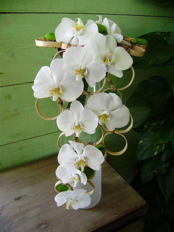 bouquet avec structure  Photo de crations florales pour votre mariage  comme une fleur